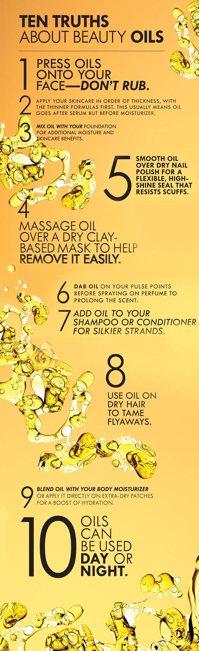 Ten truths about beauty oils.