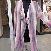 Одежда ручной работы. Ярмарка Мастеров - ручная работа кардиган розово серый ( лето ). Handmade.