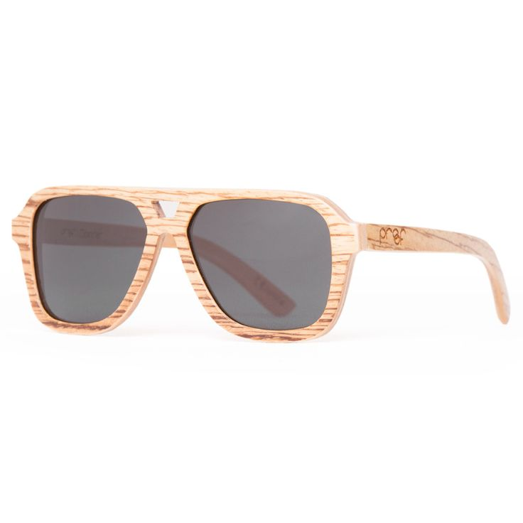 Proof 'Donner Zebra' sunglasses are made from 100% real wood. They're very light and also have polarised lenses.