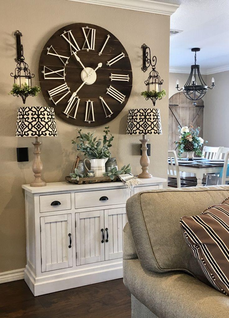 best 25 farmhouse clocks ideas on pinterest stair decor stair landing decor and living room. Black Bedroom Furniture Sets. Home Design Ideas