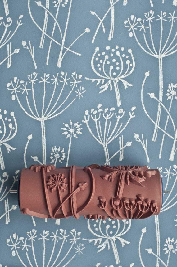 Tussock patterned paint roller by patternedpaintroller on Etsy, £20.00