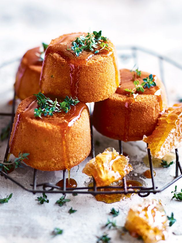 Lemon Thyme Cakes With Honey Syrup | Donna Hay