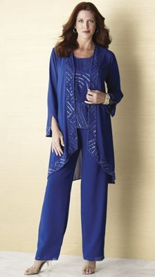 Mother of the bride beaded art deco pant set