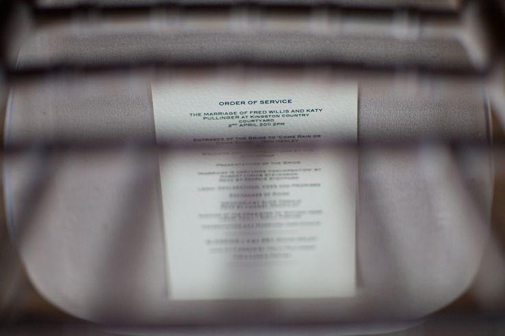 Order of service #wedding #orderofservice