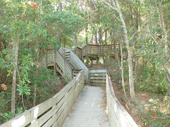 Walking trail in Pensacola Florida. Bay Bluffs Park is located on Scenic Highway at Summit Boulevard. The perfect place to put in a healthy walk with a view. -E-