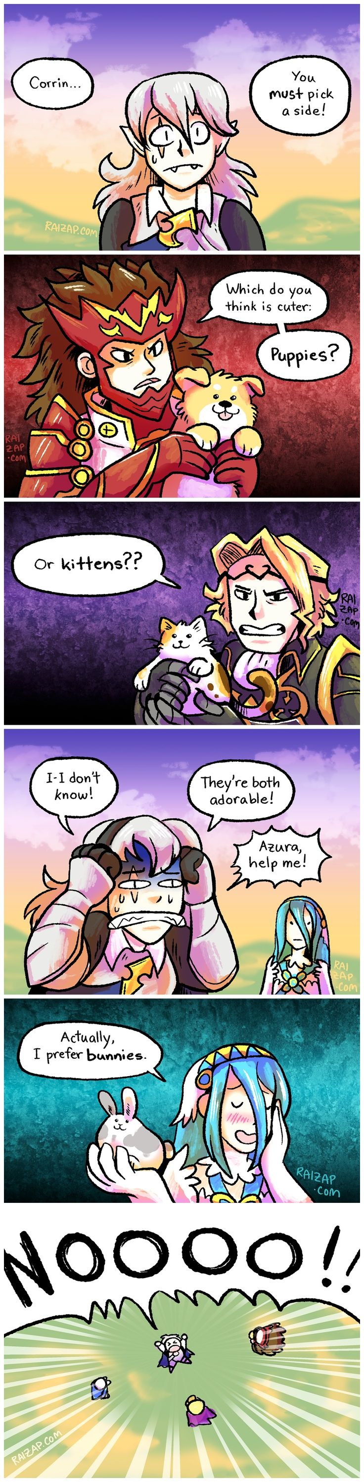 Fire Emblem: If/Fates comic....THATS EXACLY HOW THE PROBLEM IS /// I knew there was a reason I chose Nohr