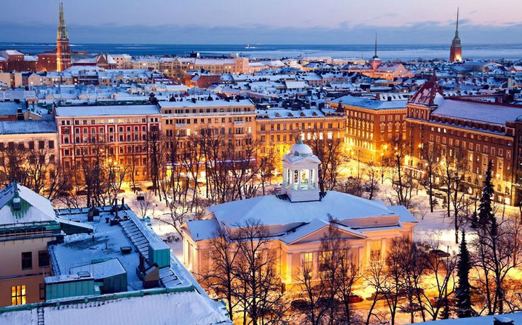 Winter wonderland in Helsinki.