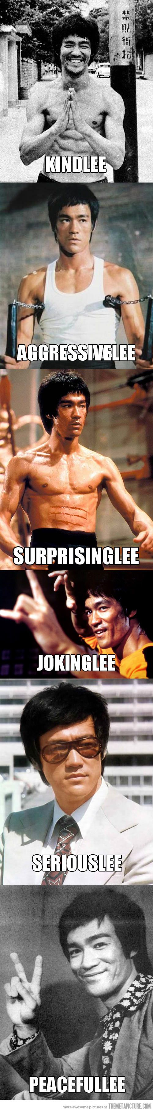 The many sides of Bruce Lee…