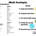 Math poster for students/parents or in the classroom. Identifies math clue words, and explains the problem solving strategy of SOLVE. ...