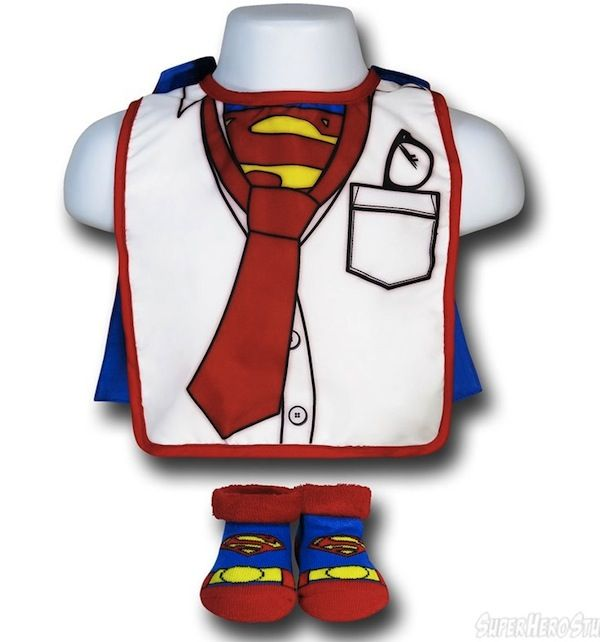 Superman Clark Kent Bib and Booties