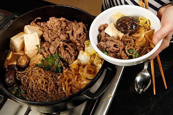 Tokyo-Style Beef Sukiyaki Recipe   Los Angeles Times  #Japanese_recipes #beef_recipes #sukiyaki