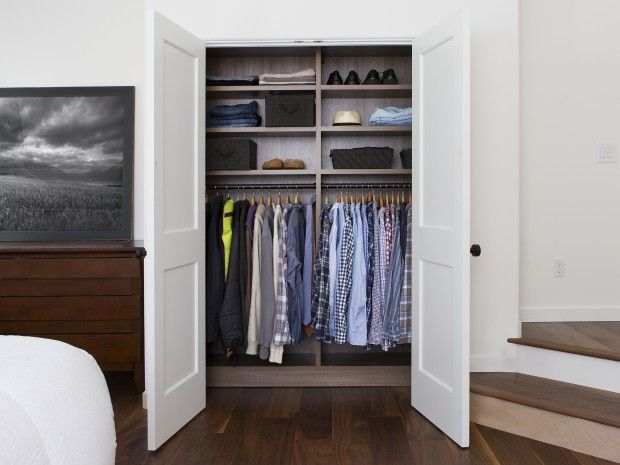 Calm, Crisp Bedroom With Plenty Of Storage  California Closets Photography