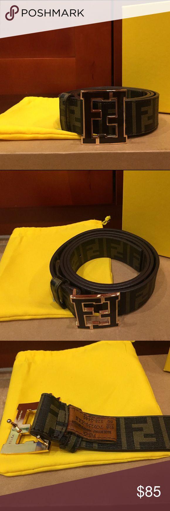***FLASH SALE - PRICE NON NEGOTIABLE*** Fendi Zucca Tobacco College Belt. Brand New with dust bag and box. Fendi Accessories Belts