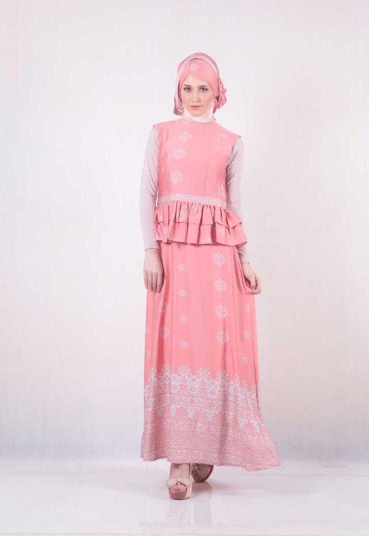 Ria Miranda - Singkarak Dress #hijab #pink