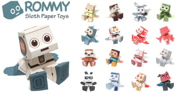 Paper Toys Rommy (Collection x 27 !!!)