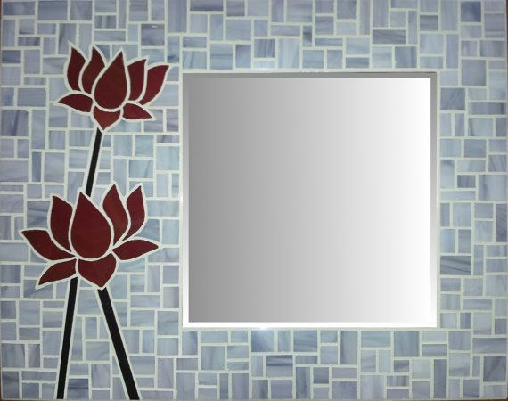 Stained Glass Mosaic Mirror - Lotus on Etsy, $179.00