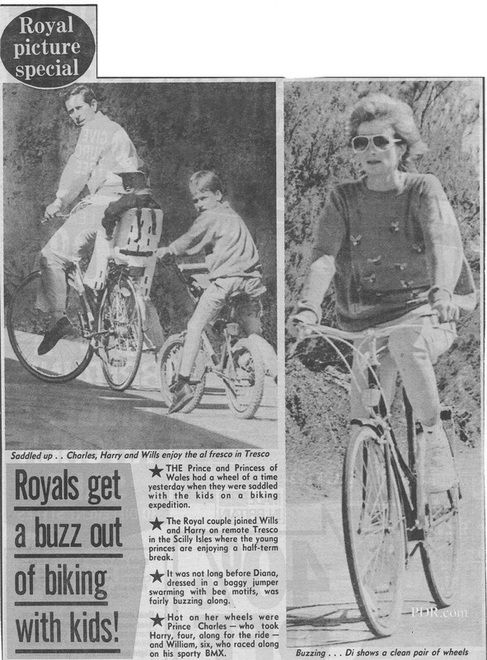 June 2nd 1989. Charles and Diana were pictured enjoying a family holiday during the school Half Term break with their sons William and Harry on the remote island of Tresco in the Scilly Isles just off the tip of Cornwall.