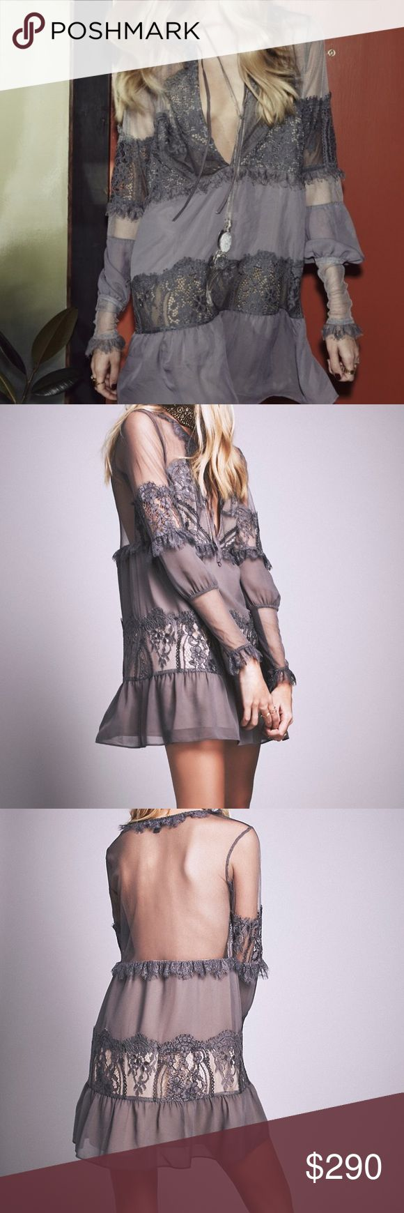 🆕 FL&L Alexa mini dress in Slate Grey size L NWT For Love & Lemons 'Alexa' mini dress in Slate Grey. Size Large. A size Large is equal to a 6/8 according to the For Love & Lemons website size guide. This dress is gorgeous with lace detailing, keyhole front that can be tied or left untied, and is partially lined. Please view all photos carefully and ask any questions you may have prior to purchasing. Retail $290. ✨No Trades✨ ✅Offers Considered Via the Offer Button✅ For Love and Lemons…