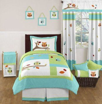 Amazon com  Turquoise and Lime Hooty Owl Childrens and Kids Bedding Set 4 pc. Top 25 ideas about Kids Bedding Set on Pinterest   North shore