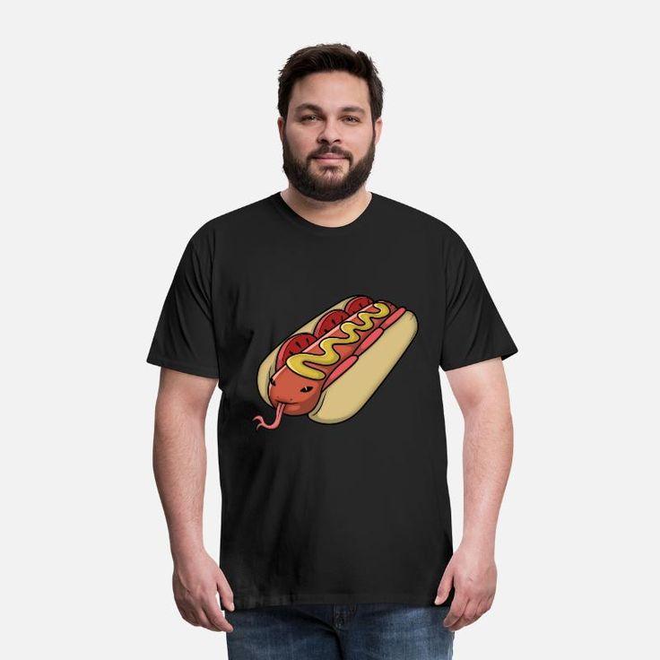 Schlangen Hot Dog Männer Premium T-Shirt – Schwarz