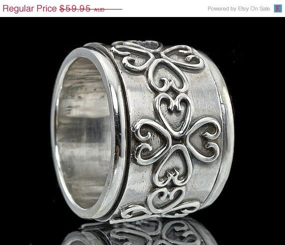 ON SALE 925 Sterling Silver Wire Work Spinner by fabriika on Etsy, $47.96