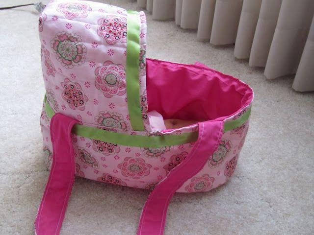 Doll bassinet tutorialSewing, Crafts Till, Diapers Bags, Bassinet Tutorials, Till Christmas, Baby Dolls, Dolls Bassinet, Twelve Crafts, Dolls Beds