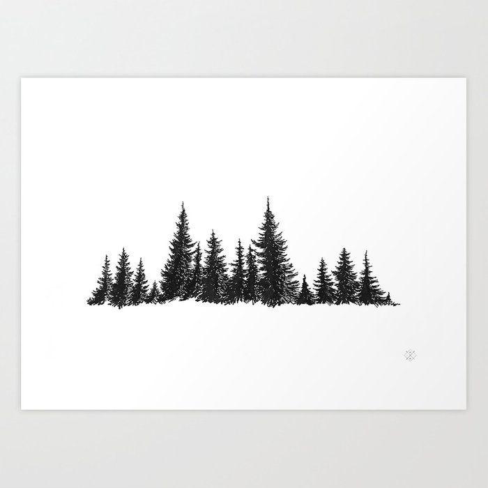 Buy Treeline Art Print by wildwither. Worldwide shipping ...