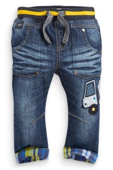 Check Trim Digger Jeans (3mths-6yrs)