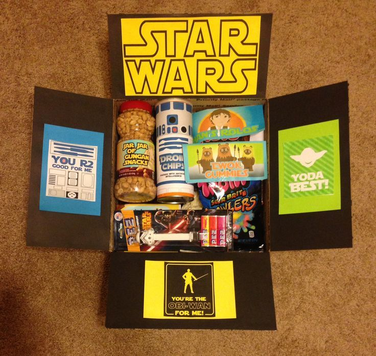 Star Wars Package - Click Pic for 22 DIY Christmas Gifts for Boyfriends