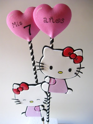 adorno para torta de kitty