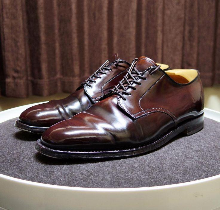 Alden 明日晴れたらこの靴にします #alden #cordovan #shoes #mensshoes #shoecare #オールデン #紳士靴 #革靴 #コードバン #靴磨き #シューケア