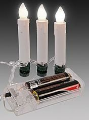 Гирлянда СВЕЧИ на клипсах, свет тёплый белый, 1.8 м, 10 LED-огней, батарейки, KAEMINGK