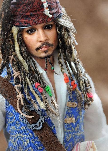 Johnny Depp doll as Captain Jack Sparrow / Always did think JD was a DOLL !! x