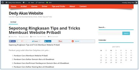 Free Download Sepotong Ringkasan Tips and Tricks Membuat Website Pribadi