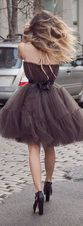 Taupe Tulle