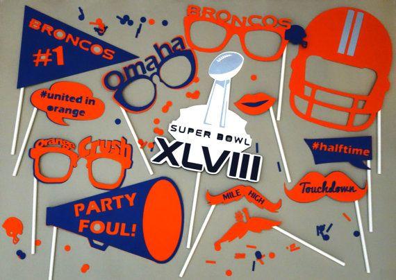 Denver Broncos SUPER BOWL XLVIII Photo Booth Props on Etsy, $42.00