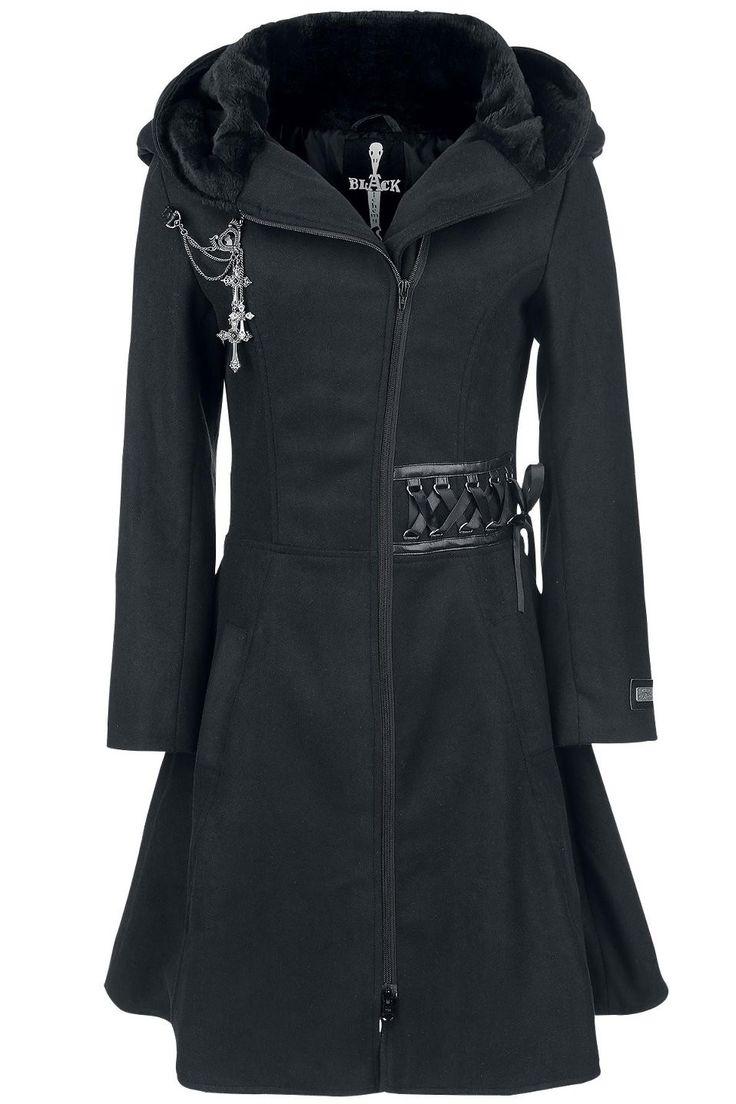 Tears coat - Manteau Rock Gothic femme - Alchemy Black Boutique