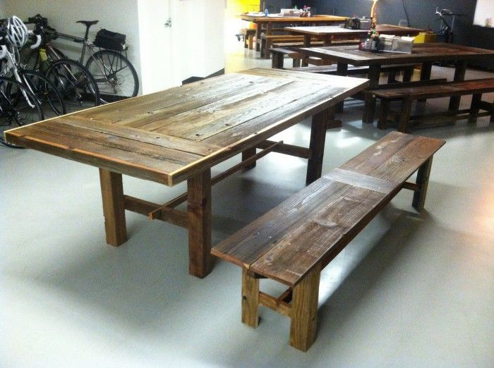 Indoor Picnic Table For Disqus In SF. Bay Area Custom Furniture From  Reclaimed Wood.