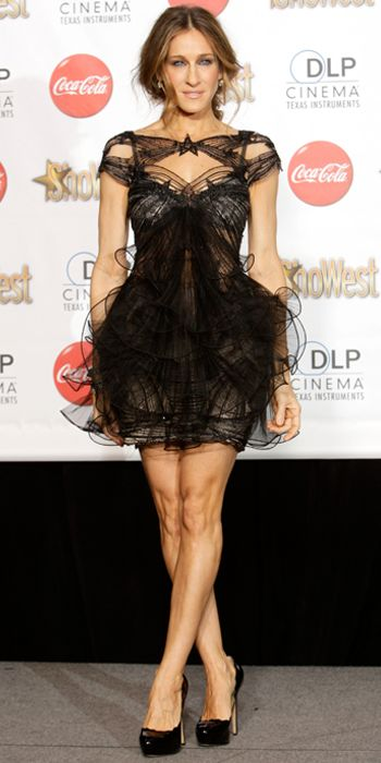 Sarah Jessica Parker's 25 Most Memorable Looks Ever - Marchesa, 2010 from #InStyle