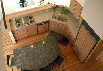 L-Shape Kitchen with Island                                                                                                                                                                                 More