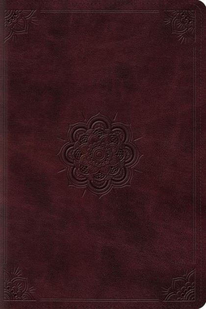 ESV Personal Reference Bible-Mahogany Emblem Design TruTone - personal reference