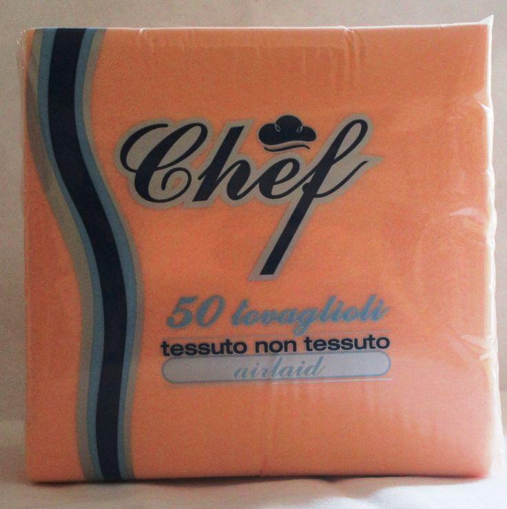 Tovagliolo Elegance Light in TNT (tessuto non tessuto airlaid) color Salmone 40×40 Chef della Ro.ial