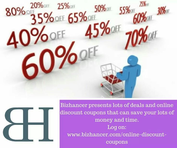 Bizhancer brings to you lots of deals and online discount coupons that can  save your lots