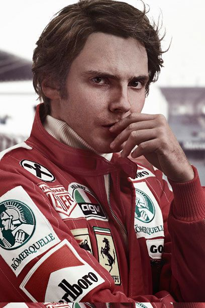 Daniel Bruhl as Niki Lauda - his charisma broke through all the make up and gruffness of the character ... he truly is what movie stars are made of...i can honestly say he took my breath away the first time i saw him -- and he doesn't even look like this!