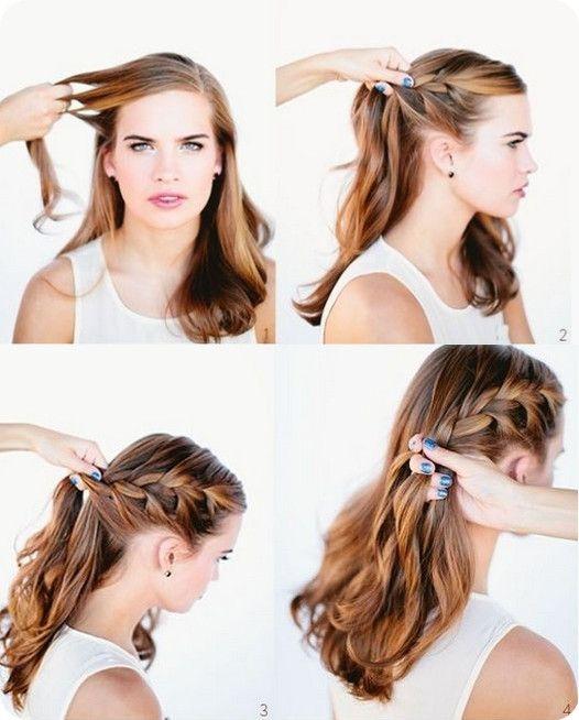 Frisur hochzeit selber machen