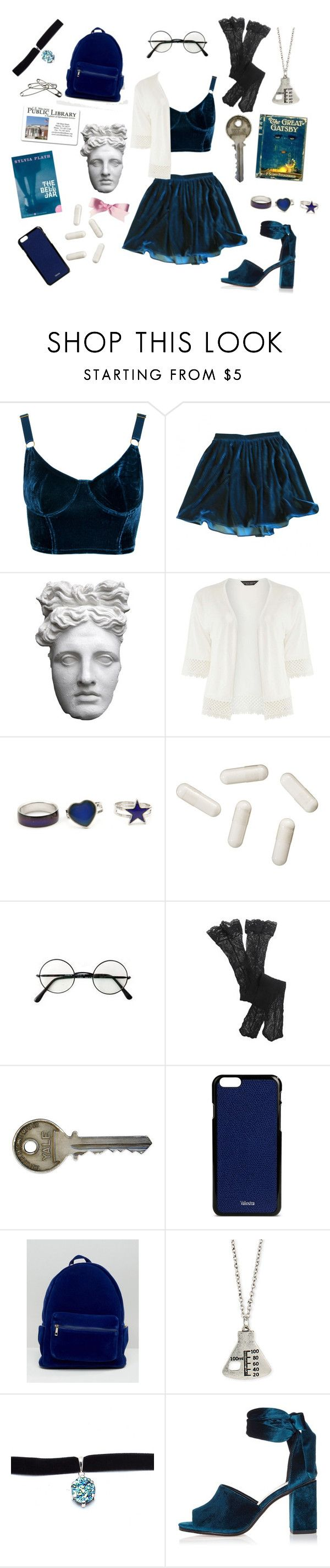 """she wore blue velvet..."" by lambvomit ❤ liked on Polyvore featuring Wet Seal, American Apparel, Gatsby, Romanelli, Dorothy Perkins, Hum Nutrition, Aerie, Valextra, Daisy Street and SAM"