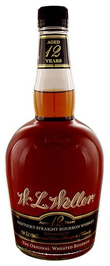 W. L. Weller 12 year old Bourbon. It's not bad, but Elijah Craig 12 year is around the same price and twice as good.