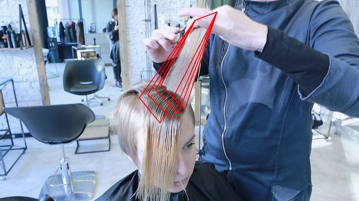 how to cut short women haircut with long fringe