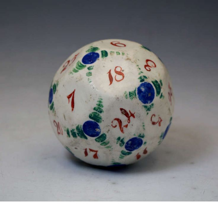 Antique pottery gaming ball. British c1820  | From a unique collection of antique and modern pottery at https://www.1stdibs.com/furniture/more-furniture-collectibles/pottery/