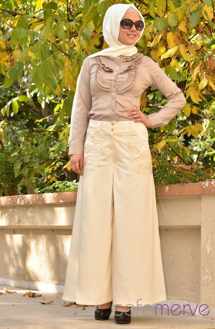 Looking Skirt Woman Hijab Pants hijab dress with woman trousers ...